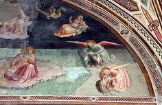 Agnolo Gaddi - Storie di San Giovanni Battista: visione a Patmos - affresco - 1385 - Cappella Castellani - Basilica di Santa Croce a Firenze