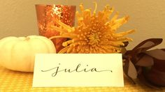 Make your thanksgiving dinner even more special by adding these #calligraphy place cards.  Last days to create your custom-order on my etsy shop so they can arrive just in time!