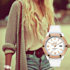 Ice Watch XXL White  #icewatchoutlet Bought With A Price, Ice Watch, Body Is A Temple, Belts, Cool Things To Buy, Bling, Watches, My Style, Awesome