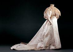 Wedding Dress, 1895  Silk satin and cotton lace