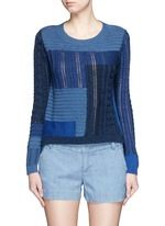 DIANE VON FURSTENBERG | 'Padma Intarsia' mix patchwork cotton sweater