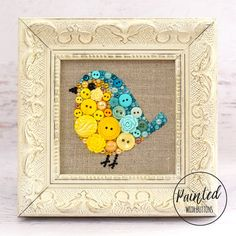Nothing says spring quite like a sweet baby bird, gently hopping from spot to spot. This teal and sunshine yellow button bird would make a