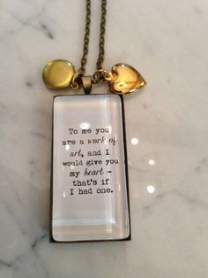 Morrissey Quote Necklace. To me you are a work of by justbedesigns, $18.00 #Morrissey