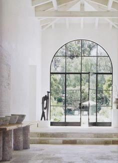 marmorino walls and limewashed beams