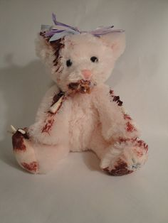 Zombie Teddy Bear A Pain In The Neck Bearly by TheDarkerMoon, $55.00