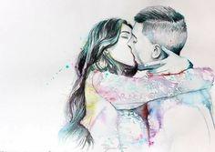 O seu beijo colore minha vida ♥️