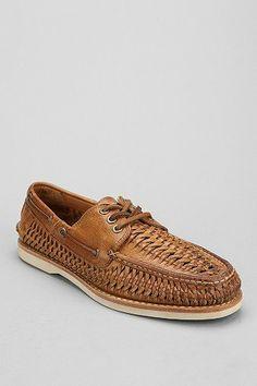 167223607 Frye Sully Woven Boat Shoe