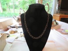 Quite Fresh 18kt. Yellow Gold 18 Inch Chain Necklace From Estate, Free USA Ship.