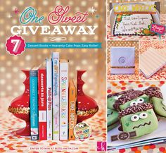 ONE SWEET GIVEAWAY: 7 Fun Dessert Books + the CAKE POPS! Easy Roller! Just comment on the blog post to enter.