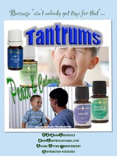 Ain't nobody got time for that!!!  Keep your kids tantrums under control with Young Living Essential Oils.  Used topically or with a diffuser your whole family will experience much more peace.   Have questions?  Email or find me on Facebook - FB/MamaLadybug3.  Young Living Independent Distributor #1725350,  MamaLadybug3@gmail.com for questions or to sign up.  Have a beautiful day!!!