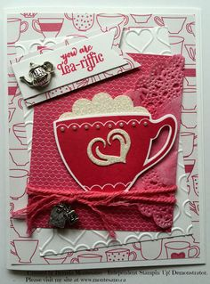 Stamp' Up! stamp set used is A Nice Cuppa. Created by Brenda Montesano - Independent Stampin' Up! Demonstrator. Please visit my site at www.montesano.ca