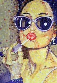 "Saatchi Online Artist: WOLF Art; Acrylic, 2013, Painting ""'Vanity'"""