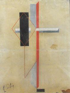 """El Lissitzky """"Proun""""  www.artexperiencenyc.com"""