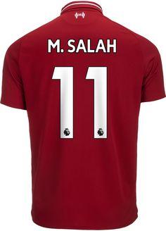 cc2d3cf5151 2018 19 New Balance Mohamed Salah Liverpool Home Jersey