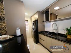 Cozinha e lavanderia conjugada Simioni Móveis Planejados sob medida cozinhas closet armarios banheiros dormitorio modernos e linha comercial