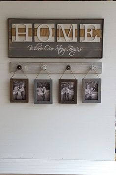 Rustic HOME sign Home Where our story by OurLittleCountryShop
