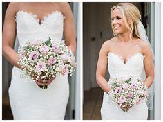 Bridal bouquet of pink roses and gypsophila. Blake Hall Weddings. blake-hall-essex-wedding-photography_0028