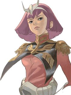Haman Karn (ハマーン・カーン Hamān Kān, sometimes called Haman Khan) is a Newtype from Side 3, & supreme leader of Neo Zeon her MS of choice is her AMX-004 Qubeley. She is pictured here at age 21.