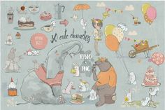 big birthday mess by Eve_Farb on @creativemarket