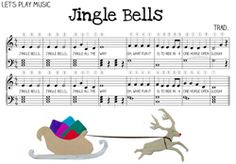 Free Jingle Bells Sheet Music for Kids! Includes lesson plan on how to teach Jingle Bells to kids - Let's Play Music Piano Lessons For Kids, Kids Piano, Lets Play Music, Music For Kids, Kids Songs, Easy Piano Sheet Music, Piano Music, Jingle Bells Sheet Music, Piano Noten