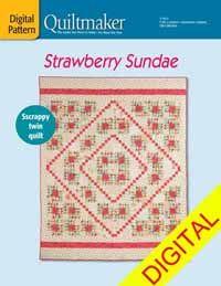 Strawberry Sundae Digital Pattern from QuiltandSewShop.com