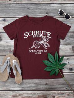 73c7207e5 Women SCHRUTE FARMS SCRANTON, PA Letter Print Graphic T-Shirt Tops