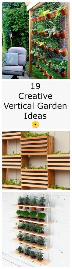As long as youve got a blank wall or a bare fence that needs beautifying, you can tend edibles, annuals, even perennials with these vertical gardening ideas — all of which inspire high hopes for the season ahead. - My Secret Garden Balcony Garden, Herb Garden, Home And Garden, Fenced Garden, Sloping Garden, Garden Walls, Gravel Garden, Garden Trees, Garden Plants