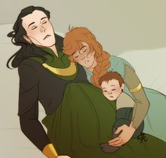Logyn Family by Nanihoo on DeviantArt - you know, I'm going to pretend that Loki's NOT pregnant here !!!