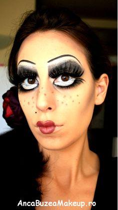 Halloween edition: Creepy broken doll makeup tutorial - YouTube ...