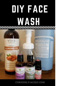 Beauty Make Up, Diy Beauty, Beauty Tips, Pure Castile Soap, Kindergarten, Plant Therapy, Sweet Almond Oil, Face Serum, Face Wash