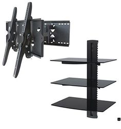 - NEW TV Wall Mount Bracket (Dual Arm) & Triple Shelf Package - Secure Cantilever LED LCD Plasma Smart WiFi Flat Panel Screen Monitor Moniter Display Large Displays - Long Swing Out Dual Double Arm Extending Extendible Adjusting Adjustable Diy Tv Wall Mount, Tv Wall Mount Bracket, Wall Mounted Tv, Entertainment Shelves, Entertainment Center, Sharp Tv, Tv Wall Brackets, Tv Stand With Mount, Swivel Tv