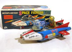 Nomura Space Fighter Spaceship Battery Toy from 60s  ebay