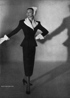 I Magnin & Co 1947 - Dorian Leigh photo by Horst