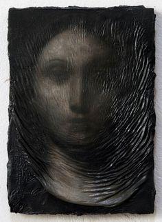 darksilenceinsuburbia: Nicola Samorí. Point of Entry. Effusus, 2011. Oil on wood, 27 x 19 cm.