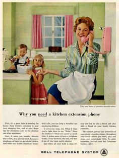 A Telephone in Every Room!  Oh the good old days . . . But in the 70s came the long, twisty cord!