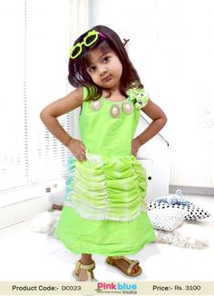 2c508ad51 Shop Online in India Beautiful White and Yellow Baby Girl s Dress ...