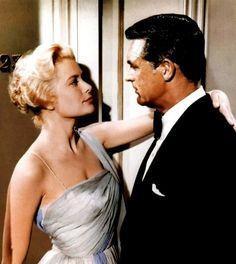 Grace Kelly and Cary Grant in Hitchcock's TO CATCH A THIEF