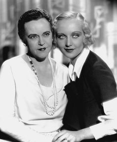 Carole Lombard and her mother 1931-Is it me, or does her mother look like Jack Lemmon in drag?