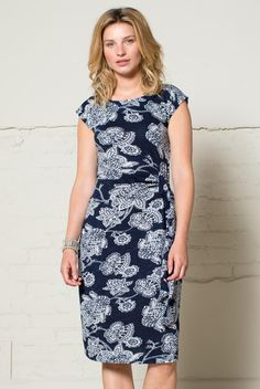 Loving the flattering fit of the Bali flower tie side dress. Soft comfy organic jersey, perfect day dress or one to roll up and take on holiday. Available in navy blue and raspberry Nomad Clothing, Ethical Clothing, Sustainable Clothing, Day Dresses, Spring Outfits, Organic Cotton, High Neck Dress, Feminine, Ss 2017