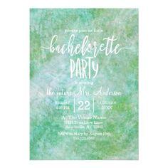 Pretty Mint Green Bachelorette Party Invitation - elegant gifts classic stylish gift idea diy style