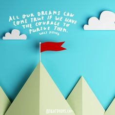 """""""All our dreams can come true if we have the courage to pursue them."""" ~ Walt Disney http://itz-my.com"""