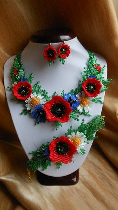 Hey, I found this really awesome Etsy listing at https://www.etsy.com/listing/226268414/ukrainian-necklace-necklace-with-poppies
