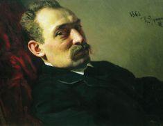 Portrait of painter Grigory Grigoryevich Myasoyedov - Ilya Repin - WikiArt.org