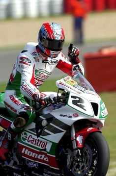 Colin Edwards. Honda VTR 1000 SP2 Castrol.