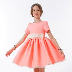 ROCHIE ROZ NEON Special Occasion, Girls Dresses, Floral, Fashion, Moda, Dresses Of Girls, Little Girl Dresses, Fasion, Flowers