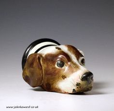 staffordshire stirrup cup | Staffordshire pottery hound head stirrup cup made in circa 1820 ...
