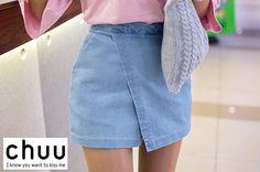 Denim Wrap Style Skirt