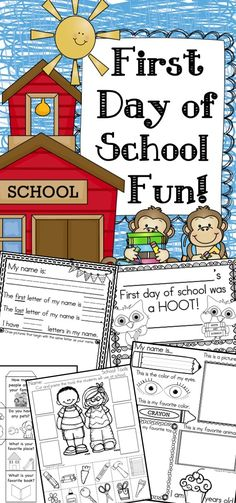 Tons of fun activities for back to school - First day of school fun!