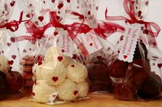 Sweet, little gifts for valentine's day - three kinds of truffles, coca cola jelly, vanilla and cocoa cookies.