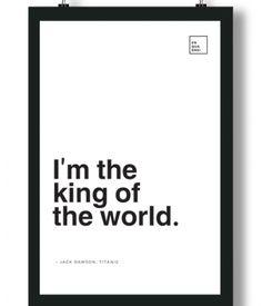 Poster/Quadro com Frase do filme Titanic – I'm the king of the world